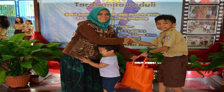 Bakti Sosial siswa-siswi beserta Guru dan karyawan SD Tarakanita Gading Serpong, 20 Januari 2017