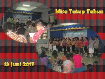 Misa Tutup Tahun Ajaran 2016-2017
