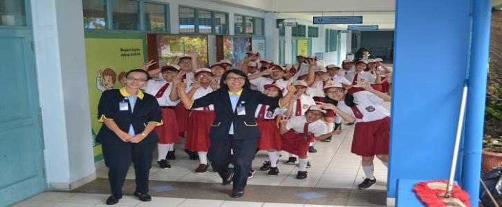 SD Tarki GS Choir siap melaksanakan tugas dalam rangka Hari Ulang Tahun ke 72 Kemerdekaan RI