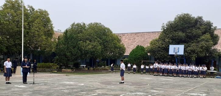 Upacara Hari Pahlawan di SMP St. Yosef