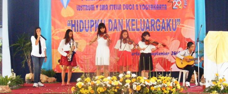 Puncak Lustrum V SMA Stella Duce 2 Yogyakarta