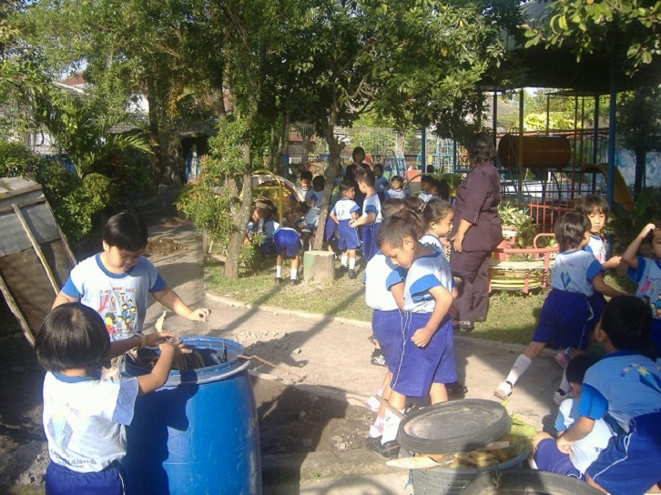 Kerja Bakti Membersihkan Lingkungan Sekolah.