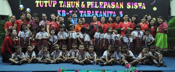 TK B Bersama Guru dan Orang Tua Murid