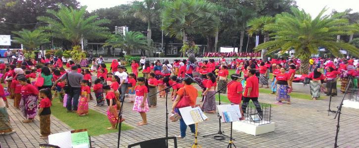 Flash Mob di Museum Indonesia