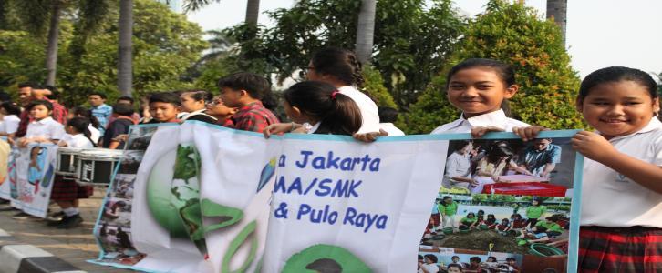 Peringatan Hari Ozon TK- SMP Tarakanita BlokQ dan SMA-SMK Tarakanita Pulo Raya