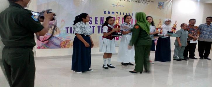 Juara 2 paduan suara tingkat Jakarta Selatan