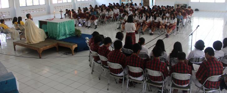 Misa Pembekalan Ujian Nasional