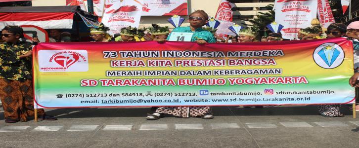 Pawai 73 Tahun Indonesia Merdeka