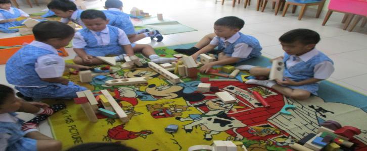 Membangun balok, membangun kreatifitas dan imajinasi
