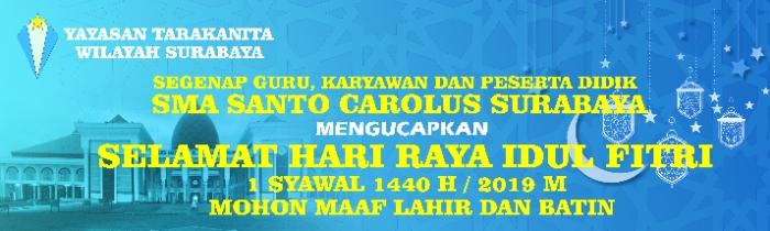Selamat Hari Raya Idul Fitri 1 Syawal 1440 H/ 2019 M, Mohon Maaf Lahir dan Batin