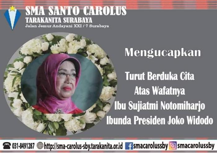 Sugeng tindak Ibu Sujiatmi Notomiharjo  (Ibunda Pres. Joko Widodo)