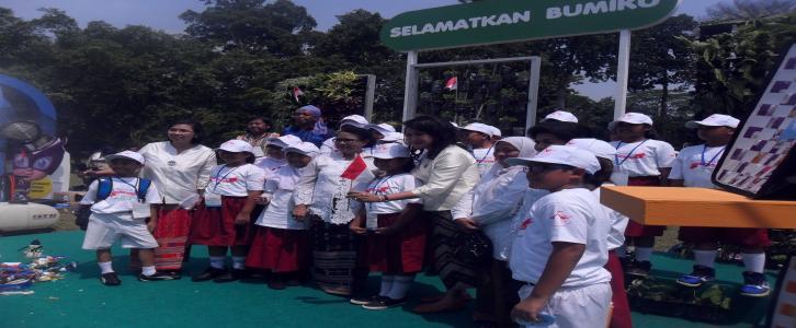 Peringatan Hari Anak Nasional bersama Menteri Pemberdayaan Perempuan