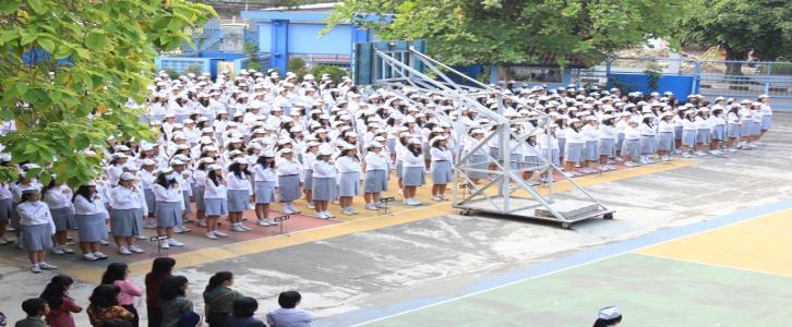 Upacara Bendera SMA Stella Duce 1 Yogyakarta