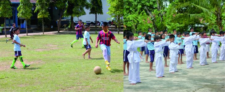 Pengembangan diri Futsal dan Kempo