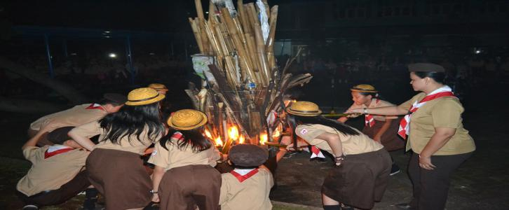 Nyalakan api unggun, nyalakan semangat generasi muda Indonesia