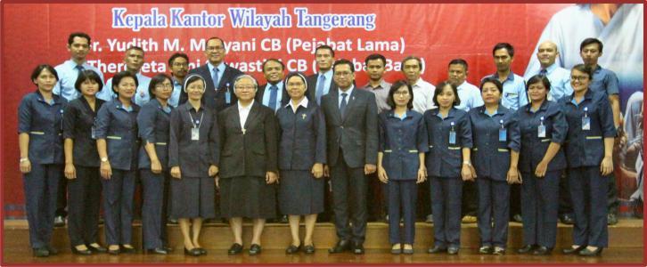 Serah Terima Tugas Perutusan Kepala Kantor Wilayah Tangerang
