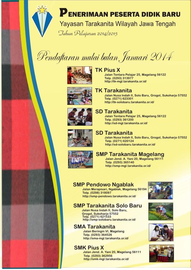 Info PPDB Tarakanita Jawa Tengah